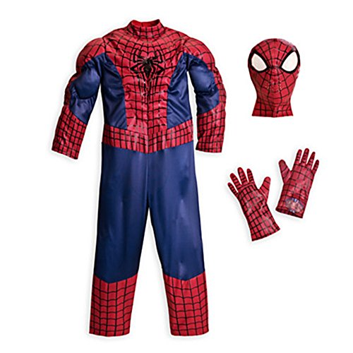 The Disney Store The Amazing Spider-Man Deluxe Costume for Boys ~ Size 5/6