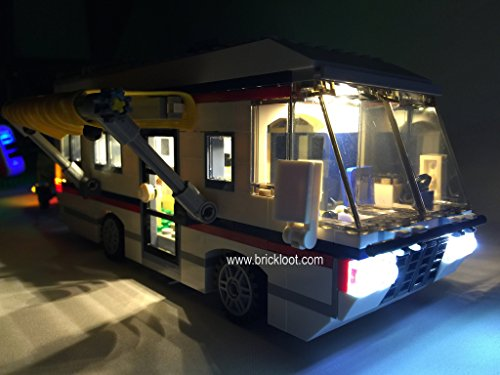 Vacation Getaways Lighting Kit for LEGO 31052 (Lego set not included by Brick Loot) (Camper Model Kits compare prices)