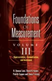 img - for Foundations of Measurement Volume III: Representation, Axiomatization, and Invariance (Dover Books on Mathematics) book / textbook / text book