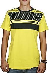 #OOTD Men's Cotton T-Shirt (Yellow, 38)