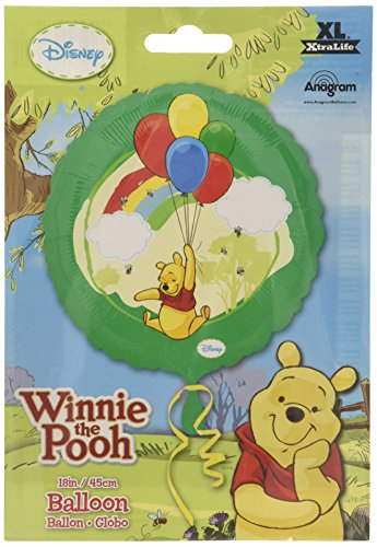 Anagram International 2416801 Winnie The Pooh Foil Balloon Pack, 18""