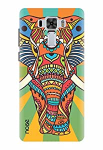Noise Designer Printed Case / Cover for Asus ZenFone 3 Laser ZC551KL with 5.5 inch screen size / Nature / Rainbow Murial Elephant Design