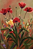 Toland Home Garden Poppies in Red 28 x 40-Inch Decorative USA-Produced House Flag