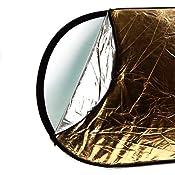 Amazon.com: CowboyStudio 40 x 60 Inches Oval 5 in 1 Collapsible Multi Photography Disc Studio Reflector, translucent/gold/silver/white/black: Camera & Photo