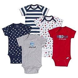 Gerber Baby Boys' 5-Pack Onesie Set - Sports (3-6 Months)