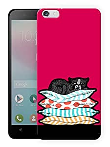 "Humor Gang Pussy Cat Resting Printed Designer Mobile Back Cover For ""Huawei Honor 4X"" (3D, Matte, Premium Quality Snap On Case)"