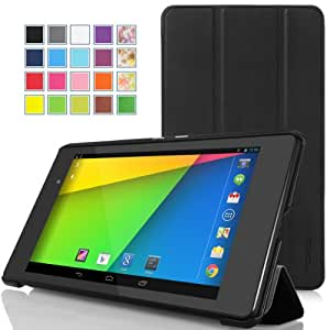 MoKo Google New Nexus 7 FHD 2nd Gen Case - Ultra Slim Lightweight Smart-shell Stand Cover Case for Google Nexus 2 7.0 Inch 2013 Generation Android 4.3 Tablet, BLACK