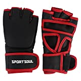 SportSoul MMA Gloves Cross-Cuff, Size - Large