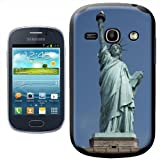 Fancy A Snuggle Statue Of Liberty New York USA Design Hard Case Clip On Back Cover for Samsung Galaxy Fame S6810
