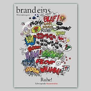 brand eins audio: Konzentration Audiomagazin