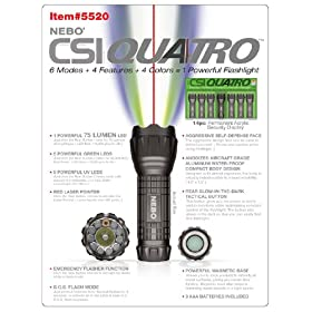 Nebo 5520 CSI Quatro 75 Lumen LED Flashlight