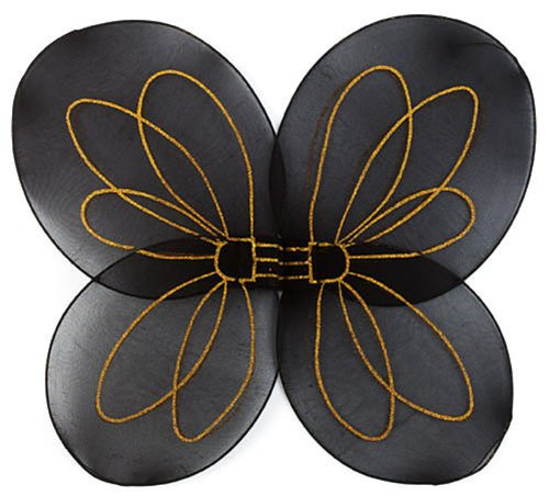 Princess Paradise Bumble Bee Child Wings, One Size, Black