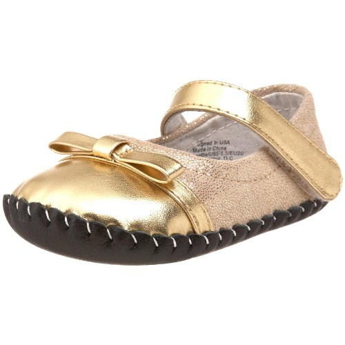 pediped Originals Penny Crib Shoe (Infant),Gold,Small (6-12 Months)