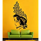 Hoopoe Decor Lord Krishna Wall Stickers And Decals - B00XEVX9BE