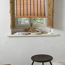 Natural Bamboo Roll Up Window Blind Sun Shade WB-SUN318 (42\