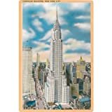 Tin Sign nostalgic picture New York USA Chrysler Building 20x30 cm Large Metal Wall Decoration Vintage Retro Classic Plaque