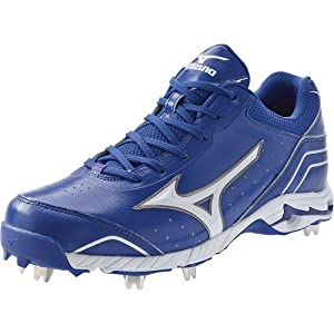 Mizuno Mens 9-Spike Advanced Classic 7 Low Metal Cleats 10 Us Royal/White Royal|White 10 US