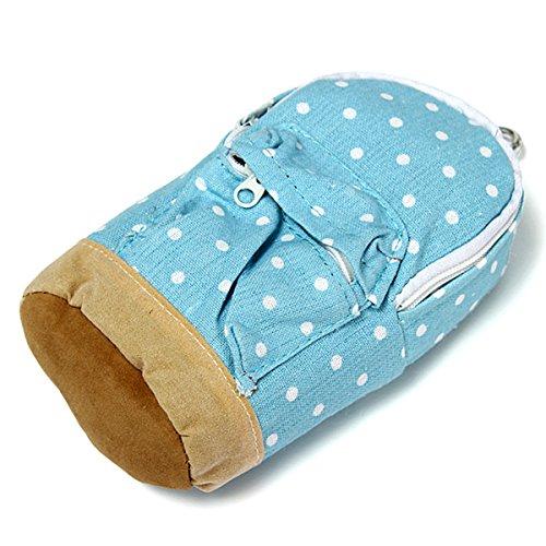 KingSo(TM) Bleistiftbeutel Bleistift Tasche Leinwand Tasche Make-up Tasche Aufbewahrungstasche Blau