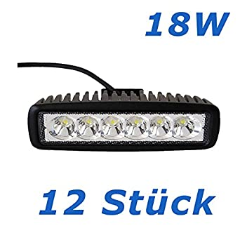 4 St/ück 27W LED Lampe Scheinwerfer Spot Arbeitsscheinwerfer Arbeitslicht IP67 rund warmwei/ß