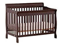 Hot Sale Stork Craft Modena 4 in 1 Fixed Side Convertible Crib, Espresso