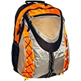 K-Cliffs Orange Sporty Outdoor School Backpack