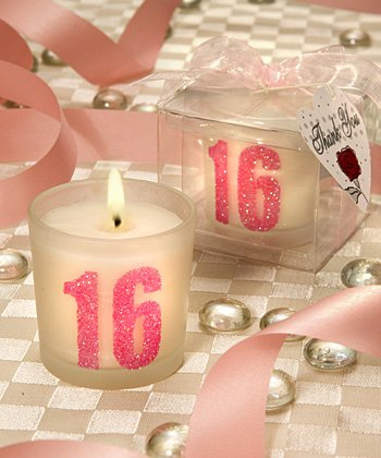 Sparkling Pink 16 Design Candle Favor (Set of 72) - Wedding Party Favors