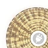 50m Microlichter Lichterschlauch Lichtschlauch warm-weiß - Innen- und Außenbereich -