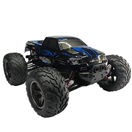 AMOSTING S911 33MPH 2.4GHz 2WD Off Road Waterproof Monster RC Truck, 1/12 Scale - Blue (Rc Trucks 4x4 Waterproof compare prices)