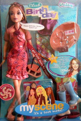 Barbie My Scene Club de Cumpleaños CHELSEA MUÑECA w Stylin 'Botas para muñeca Nolee & More (2004)