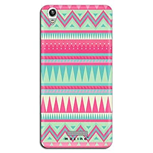 Mozine Pink Tribal Pattern printed mobile back cover for Lava Pixel 1