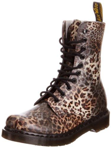 Dr Martens Women's Leopard 1490 Print Lace Ups Boots 14610225 5 UK