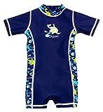 Olibia Mar: Baby-Badebekleidung Einteiler mit UV-Schutz 50+ und Oeko-Tex 100 Zertifizierung in blau; Größe 74/80
