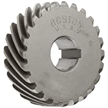 Boston Gear H1624R Plain Helical Gear, 45 Degree Helix, 14.5 Degree Pressure Angle, 0.500 Bore, 16 Pitch, 24 Teeth, Steel, RH