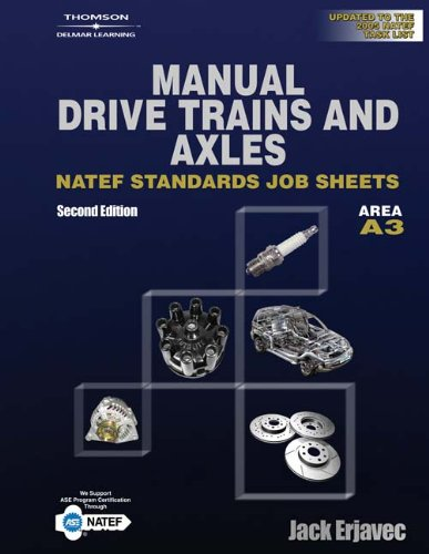 Manual Transmissions NATEF Standard Jobsheets, Area A3, 2nd Edition