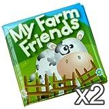 2 Baby Bath Book Attractive Bath Educational Fun Toy Farm Friends
