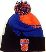 Mitchell & Ness NBA Mens New York Knicks Paintbrush Knit Hat - KK40-MTC-5KNICK by Mitchell & Ness