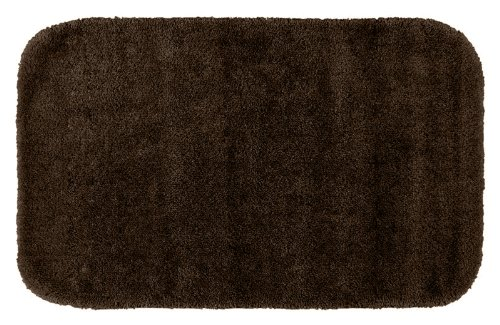 Garland Rug Traditional Plush Washable Nylon Rug, 24-Inch By 40-Inch, Chocolate front-787219