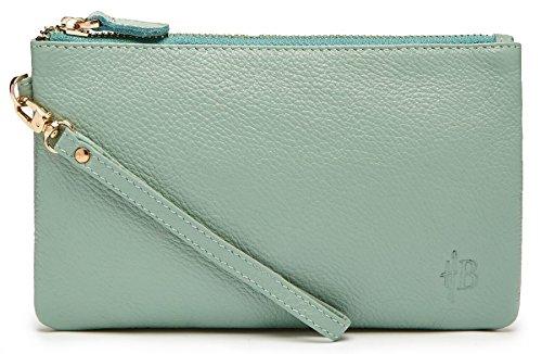MightPurse Wristlet Phone Charging Handbag (Powder Blue)