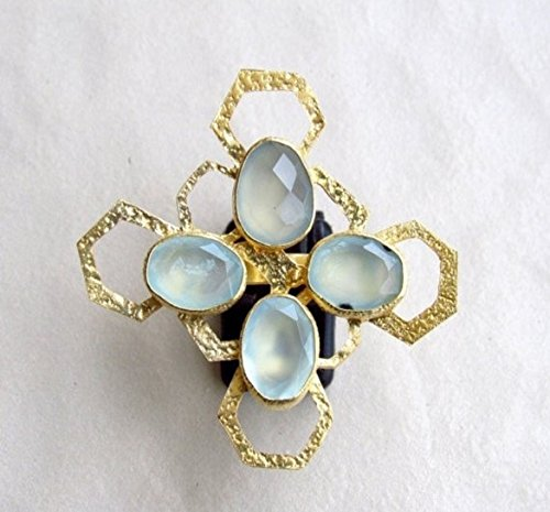 natural-aqua-blue-chalcedony-honey-comb-ring-from-enhara-jewels-statement-ring-adjustable-ring
