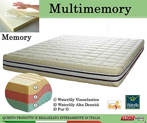 Materasso Memory Mod. Multimemory Waterlily Tre Strati - Ergorelax - singolo - 80 cm x 200 cm