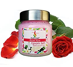 Aromakrafts Epsom Bath & Foot Spa Salt enriched with Royal Rose Aroma - 250g