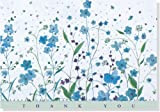 Blue-Flowers-Thank-You-Notes-Stationery-Note-Cards