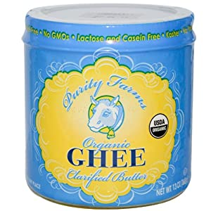 Purity Farm Organic Ghee, Clarified Butter, 13-Ounce