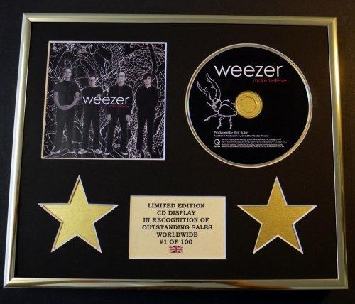WEEZER/CD Display/Limitata Edizione/Certificato di autenticità/MAKE BELIEVE
