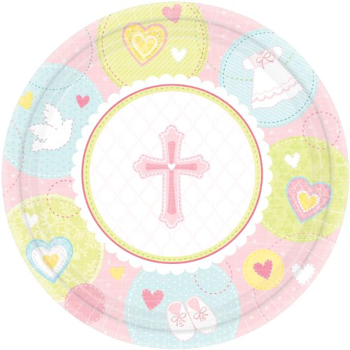 Sweet Blessing Pink Dinner Plates