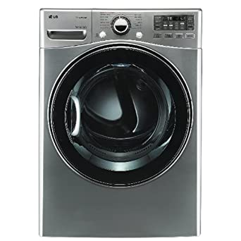 LG DLEX3470 7.3 Cu. Ft. Ultra Large Capacity Electric Dryer with Dual LED Displays, Graphite Steel