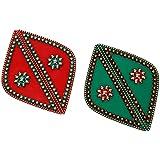 Pavanm's Plastic Rangoli - 20 Cm X 14 Cm X 10 Cm , Red & Green