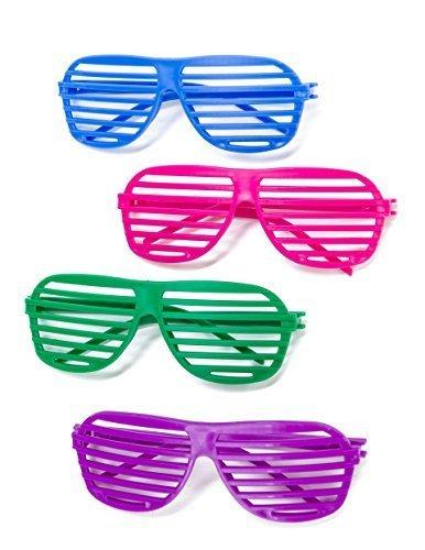 Kangaroo's 80's Neon Shutter Shades, Kids Sunglasses (12-Pack) - 1