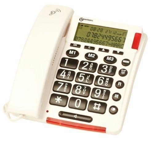 Clearsound - CL320 - Téléphone grosses touches - Guide vocal de numérotation - Blanc