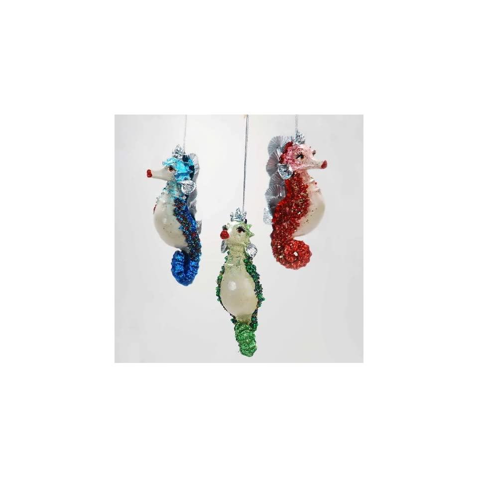 Katherines Collection Kissing seahorse Christmas ornament